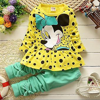 Kids Girls ruhák Minnie egér pulóver felső és nadrág ruhák set