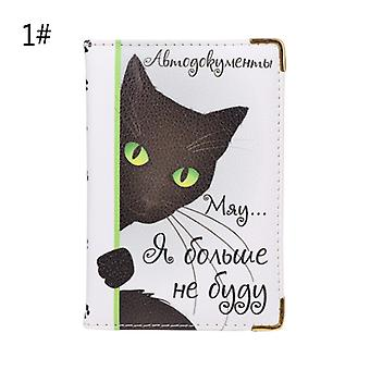 Cartoon Russian Case Cover For Car Driver's License Id Credit Card Holder Wallet