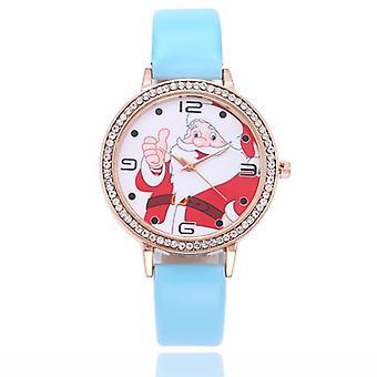 Children Cartoon Watch Cute Santa Girl Watch