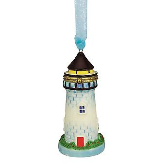 Vuurtoren scharnierend vak Christmas Holiday Ornament keramische 4,75 Inches