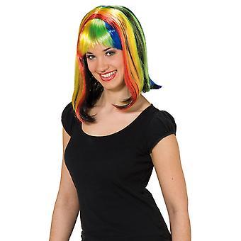 Regenboog wig Rainbow kleurrijke dames
