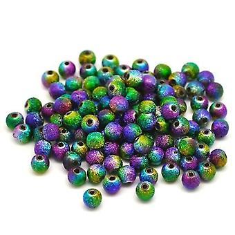Boolavard® TM 100 Multicolor Stardust rundt perler akryl Spacer perler 6 mm Dia.