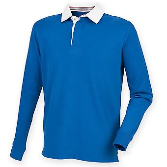 Front Row Mens Premium Long Sleeve Rugby Shirt/Top