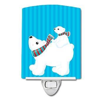 Carolines Treasures  BB8982CNL Polar Bears #6 Ceramic Night Light