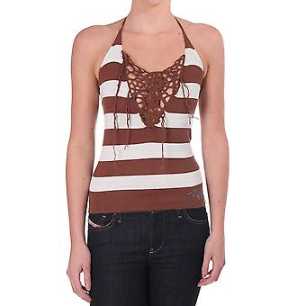 Diesel Knitted Striped Halter Top