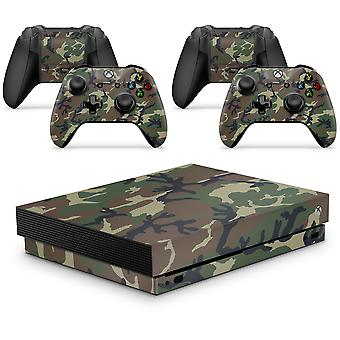 GNG Xbox One X  Console Skin Decal Sticker  + 2 Controller Skins