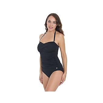 Seaspray SY005543A vrouw zwart effen kleur kostuum een stuk zwembroek