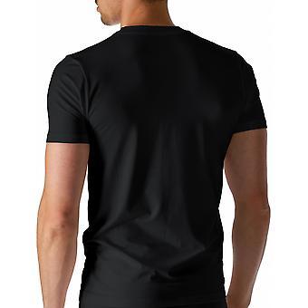 Mey 46003-123 Men's Dry Cotton Black Solid Colour Short Sleeve Top