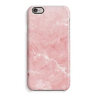 Caso iPhone 6 6s caso 3D (brilhante)-mármore rosa