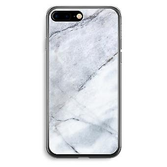 iPhone 7 Plus transparant Case (Soft) - marmer-Wit