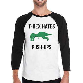 T-Rex Push Ups Herre Raglan trøje