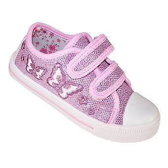Garotas-de-rosa formadores de borboleta brilhante
