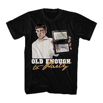 Super Bad Old Enough Men's Black T-shirt