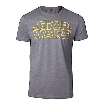 Star Wars delinea Logo t-shirt grigio medio (TS728688STW-M)