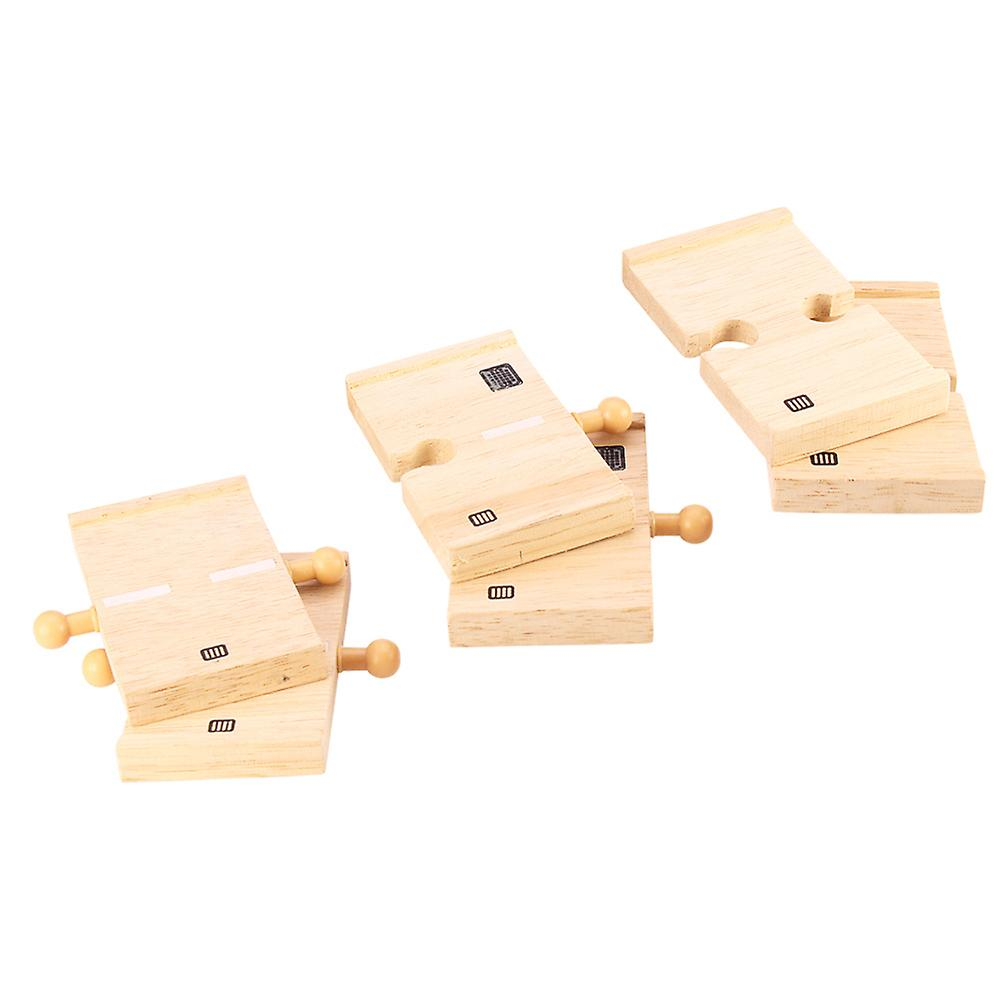 Bigjigs Rail Wooden Mini Roadway (Pack of 6) Wood Road Track Expansion
