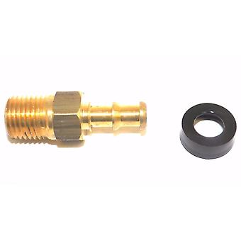 """Big A Service Line 3-74445 Brass Hose Fitting Connector, 1/4"""" x 5/16"""" Male Pipe"""