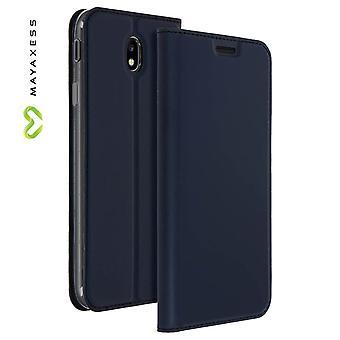 Case Mayaxess peau série Flip, permanent cas pour Samsung Galaxy J5 2017 - bleu