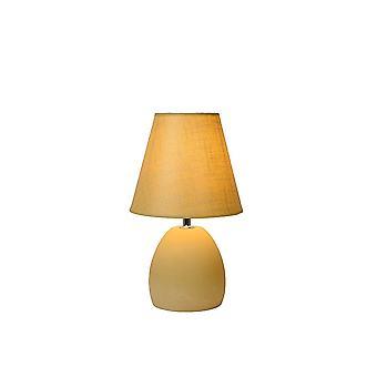 Lucide Solo Ceramica Lampada da tavolo con Ombra Gialla