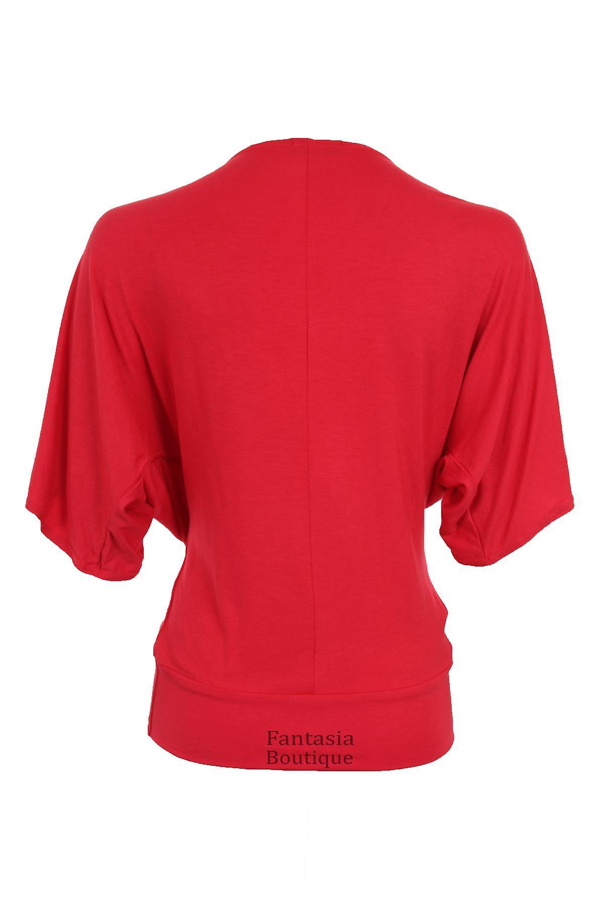 New Ladies Short Sleeve Celeb Print Baggy Women's Top
