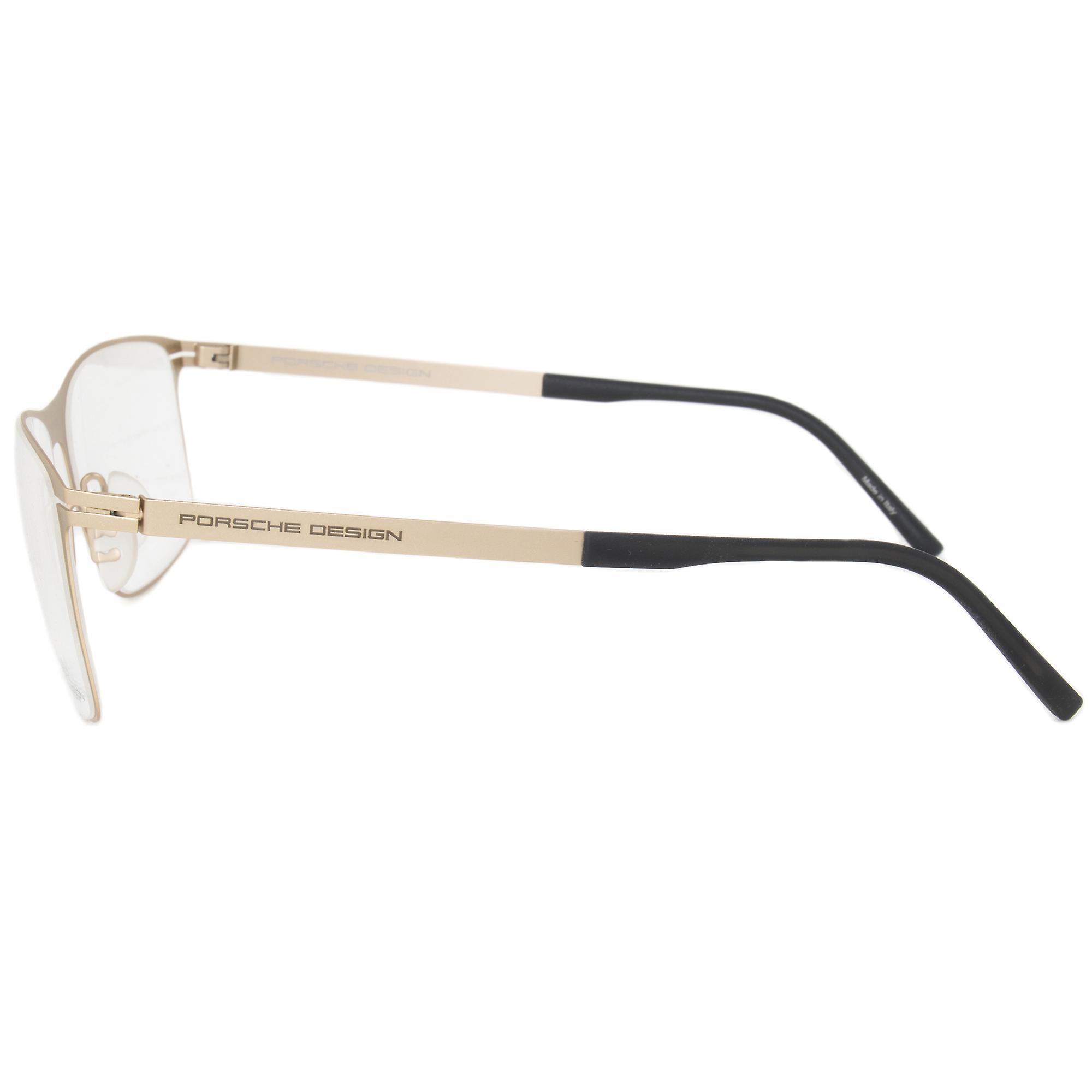 Porsche Design P8256 B Square   Matte Light Gold  Eyeglass Frames
