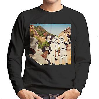 Oprindelige Stormtrooper Selfie Great Wall Of China mænds Sweatshirt
