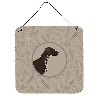 German Shorthaired Pointer In the Kitchen Wall or Door Hanging Prints