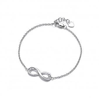 Cavendish franske sølv og Cubic Zirconia Infinity armbånd