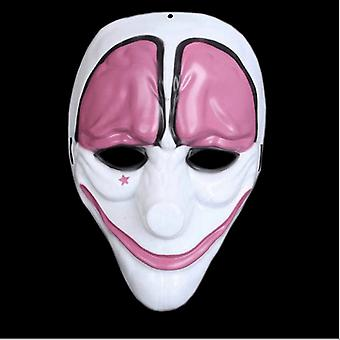 Klaun purge maska Maškaráda strana strana Halloween-ružová-biela