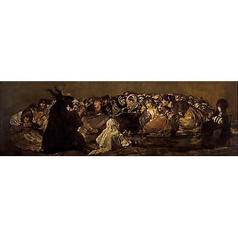 Witches'Sabbath из, Франсиско де Гойя y Lucientes, 80x40cm