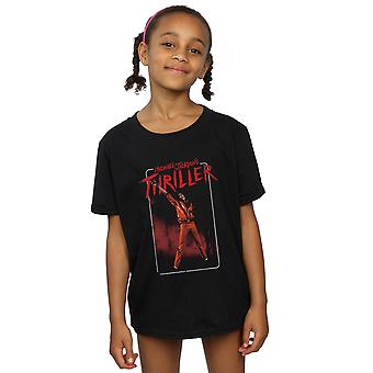 Michael Jackson Thriller dziewczyny czerwony T-Shirt