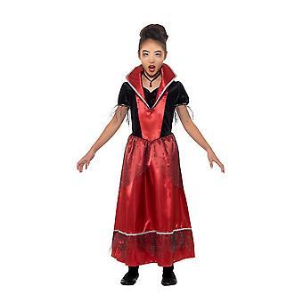 Vampyr prinsessa kostym, Halloween barn maskeraddräkter, stor år 10-12