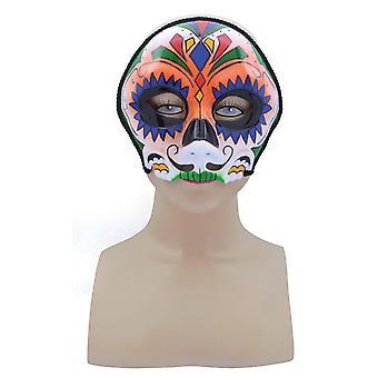Sugar Skull Style, arancione, occhiali cornice