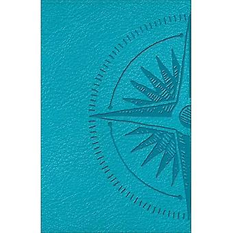 CSB Heart of God Teen Study Bible Teal, Compass Design LeatherTouch