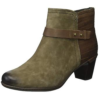 Cobb Hill Womens Rashel Buckle Suede Almond Toe Ankle Fashion Boots