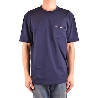 Brunello Cucinelli Ezbc002061 Men's Blue Cotton T-shirt