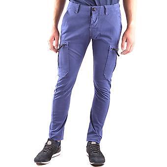 Stone Island Ezbc024013 Men's Blue Cotton Pants