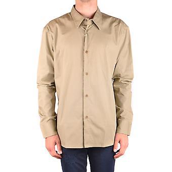 Bikkembergs Ezbc101061 Hombres's Camisa de Algodón Verde