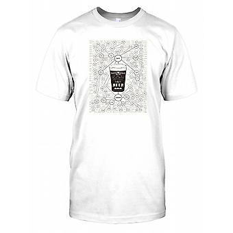 De zeer vele soorten bier Diagram - alle bieren van de wereld Mens T Shirt