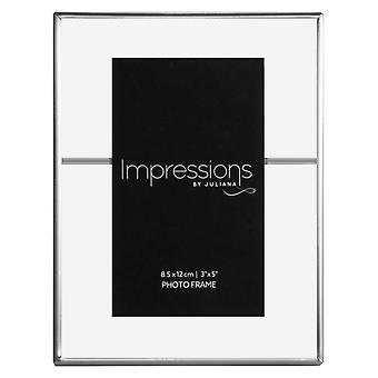 Juliana Impressions Pewter Tone Photo Frame 3.5x5 - Clear/Gunmetal Grey