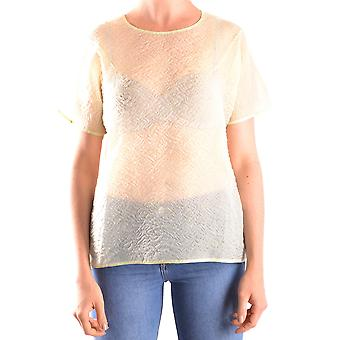 Carven Ezbc234001 Women's Green Silk T-shirt