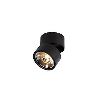 QAZQA Moderner Spot schwarz verstellbar - Go Nine Tubo