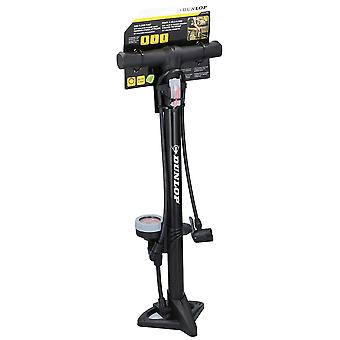 Standpump DUNLOP with manometer 11 bar Black