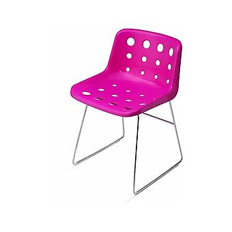 Chaise Loft Robin Day Skid Pink Plastic Polo