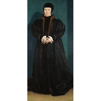 Christina of Denmark, Duchess, Hans Holbein the Younger, 80x37cm