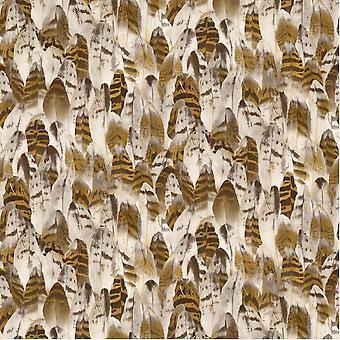 Muriva zachte & natuurlijke veren vogel veer motief patroon vinyl behang J64108