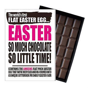Śmieszne płaskie Easter Egg czekolada bar powitanie karty prezent mężczyźni kobiety Friend UK EIYF132