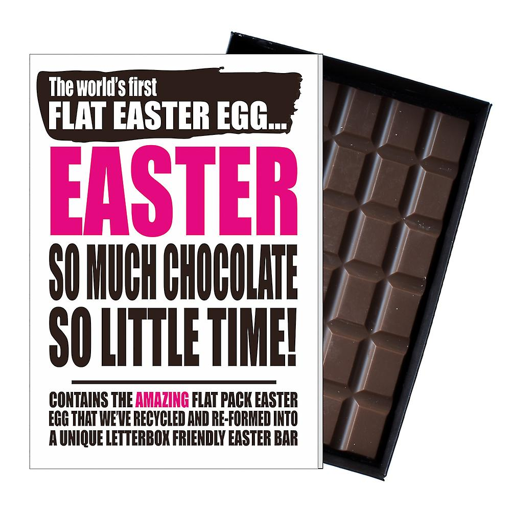 Funny Flat Easter Egg Chocolate Bar Greeting Card Gift Men Women Friend UK EIYF132