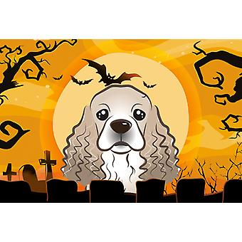 Carolines Treasures  BB1774PLMT Halloween Cocker Spaniel Fabric Placemat