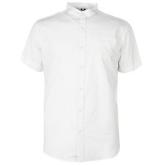 Soviet Mens Short Sleeve Tape Casual Shirt Everyday Chest Pocket