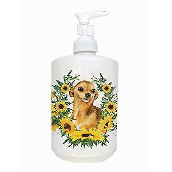 Carolines Treasures CK2850SOAP Chihuahua keraaminen saippua pumppu